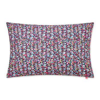 Painted Poppies Pillowcase - Navy/Multi