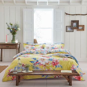 Whitstable Floral Duvet Cover - Yellow
