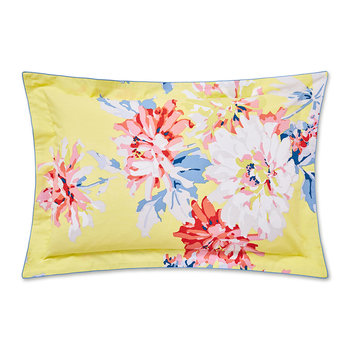 Whitstable Floral Oxford Pillowcase - Yellow