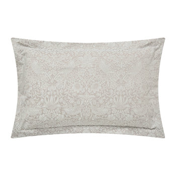 Pure Strawberry Thief Oxford Pillowcase - Pebble
