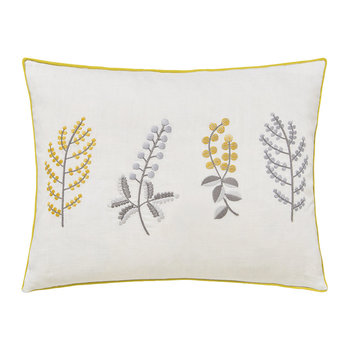 Paper Doves Embroidered Pillow - Mineral - 30x40cm