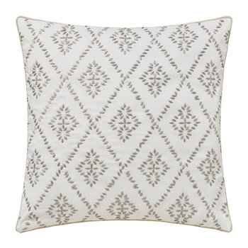 Sundial Embroidered Cushion - Grey - 40x40cm