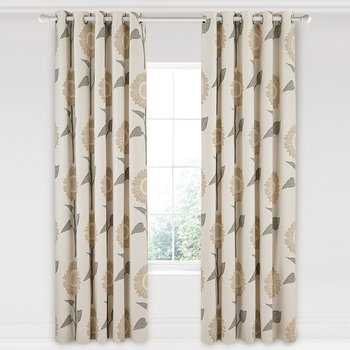Sundial Lined Curtains - Linen - 168x229cm