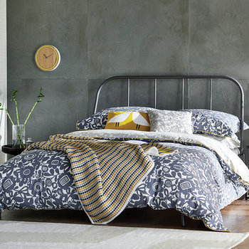 Kukkia Duvet Cover - Ink & Charcoal