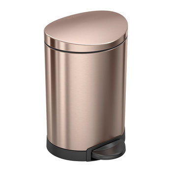 Semi-Round Pedal Bin - 6L - Rose Gold