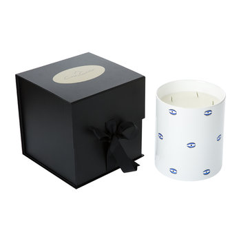Evil Eye Porcelain Candle - Mediterranean Fig