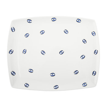 Evil Eye Tray - Fine Bone China - White