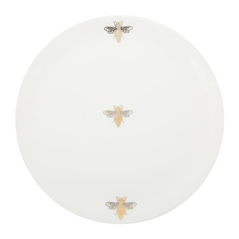 Bee Plate - Fine Bone China - White
