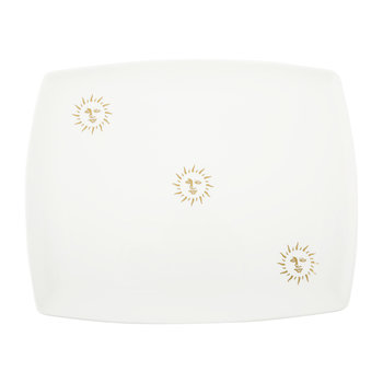 Sun Tray - Fine Bone China - White