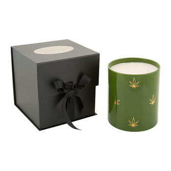 Leaf Porcelain Candle - Dark Amber