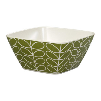Bamboo Bowl - Linear Stem - Seagrass