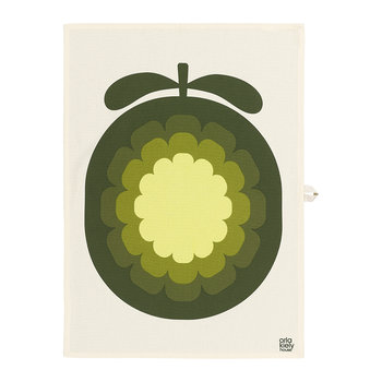 Cantaloupe Melon Tea Towel - Set of 2 - Olive