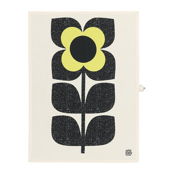 Scribble Square Flower Tea Towel - Set of 2 - Primrose