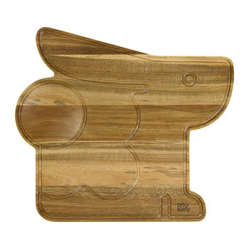 Bonnie Bunny Serving Board - Acacia Wood/Dandelion