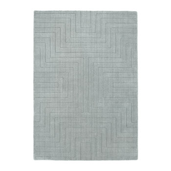 Carved Maze Hand Tufted Wool Rug - 120x170cm - Grey