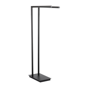 Straight 2 Towel Stand - Matt Black