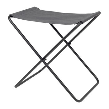 Nola Stool - Canvas/Iron - Dark Shadow/Black Legs