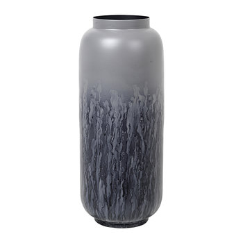 Eik Iron Vase - Drizzle/Dark Grey