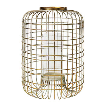 Wire Lantern - Champagne - Large