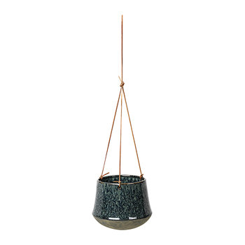Annie Hanging Flowerpot - Stoneware - Dark Blue/Antique
