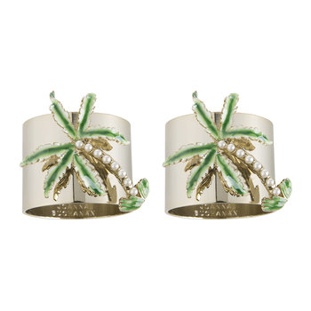 Palm Tree Napkin Ring - Set of 2