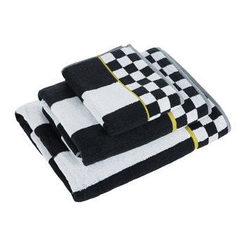 Courtly Stripe Towel - Black/White