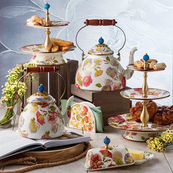 Morning Glory Cake Stand - Two Tier
