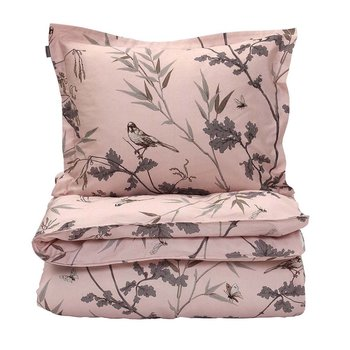 Birdfield Duvet Cover - Tan Rose