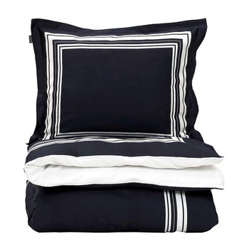 White Frame Duvet Cover - Sateen Blue
