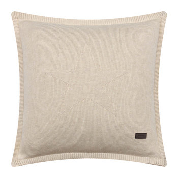 Top Star Knitted Cushion - 50x50cm - Putty