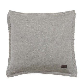 Top Star Knitted Cushion - 50x50cm - Grey
