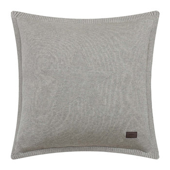 Top Star Knitted Pillow - 50x50cm - Grey