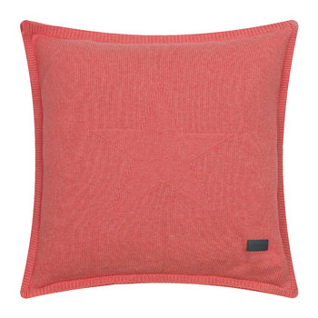 Top Star Knitted Pillow - 50x50cm - Apricot Blush