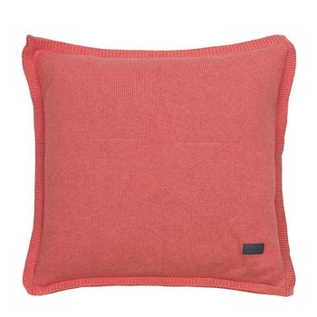 Top Star Knitted Cushion - 50x50cm - Apricot Blush