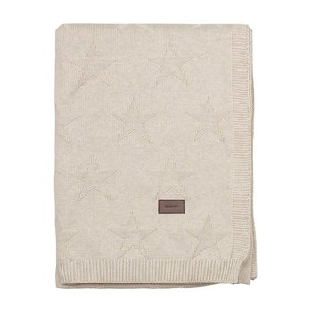 Top Star Knitted Throw - Putty