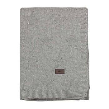 Top Star Knitted Throw - Grey