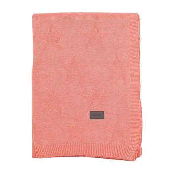 Top Star Knitted Throw - Apricot Blush