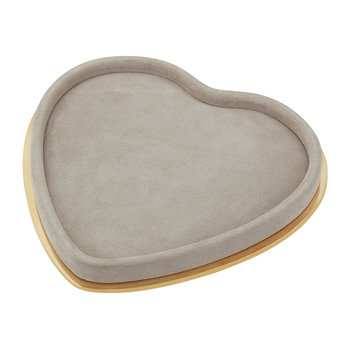 Valentina Suede Heart Tray - Dune