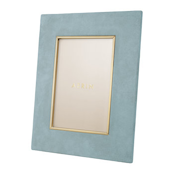 Valentina Suede Photo Frame - Azure