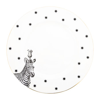 Monochrome Zebra & Cocktail Dinner Plate