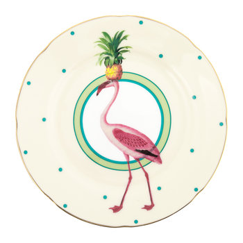 Pineapple Flamingo Cake Plate