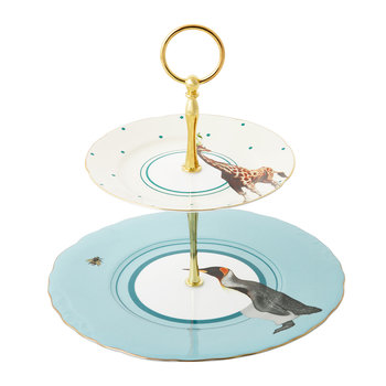 Penguin & Giraffe Two Tier Cake Stand