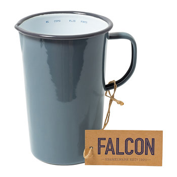Pigeon Gray Enamel Pitcher - 2 Pints