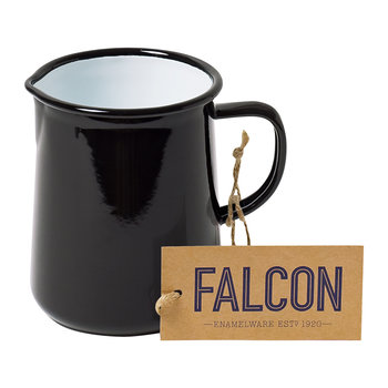 Coal Black Enamel Jug - 1 Pint