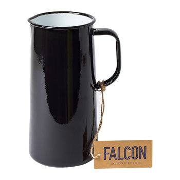 Coal Black Enamel Pitcher - 3 Pints