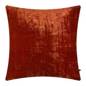 Paddy Velvet Cushion - 50x50cm - Poppy