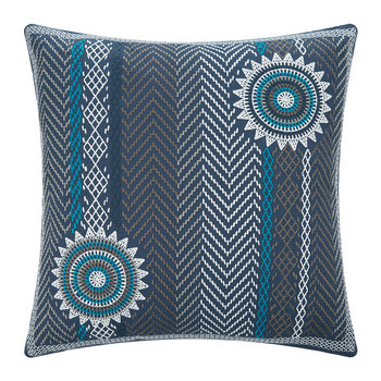 Ronnie Reversible Pillow - 50x50cm - Indigo