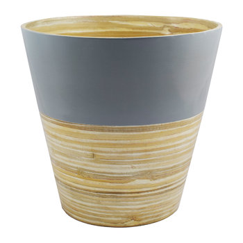 Bamboo Planter - Grey