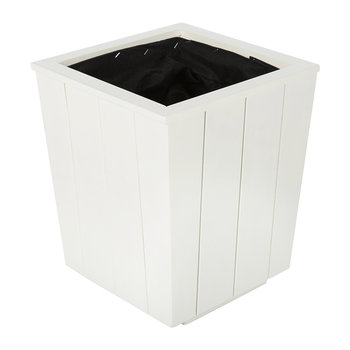 Hardwood Tapered Planter - Antique White