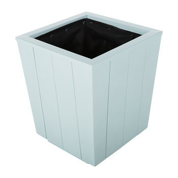Hardwood Tapered Planter - Coastal Blue